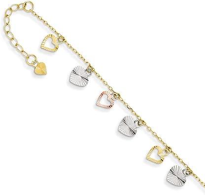 14K Tri-Color Yellow Gold Adjustable Bracelet Adjustable Bracelet Tri-Color Bracelet