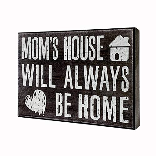JennyGems - Mom's House Will Always Be Home - Wooden Mom...