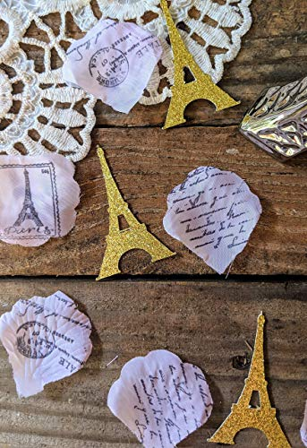 Eiffel Tower Party, Paris Party Decorations, Paris Decor For Birthday Party, Paris Themed Party Supplies, Pink and Gold Confetti -