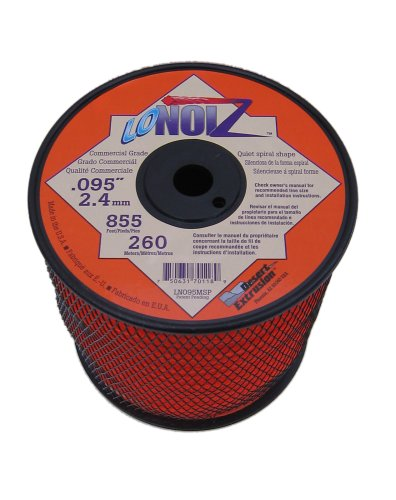 - LoNoiz .095-Inch 3-Pound Spool Commercial Grade Spiral Twist Quiet Grass Trimmer Line, Orange LN095MSP-2