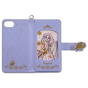 ef65954b71 【カラー:ラプンツェル】iPhone7 iPhone6s iPhone6 ディズニー ビジュー ケース プリンセス キャラクター ダイカット 手帳型