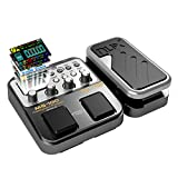 Beaspire NUX MG-100 Professional Electric Guitar Multi-Effects Distortion Pedal Processor Musical Instrument Parts 40s Record 55 Effect Mode 10 Sound Quick-shift for School Colorful Screen and Live