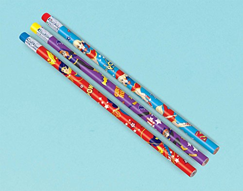 Amscan Pencil Favor | DC Super Hero Girls Collection | Party Accessory -
