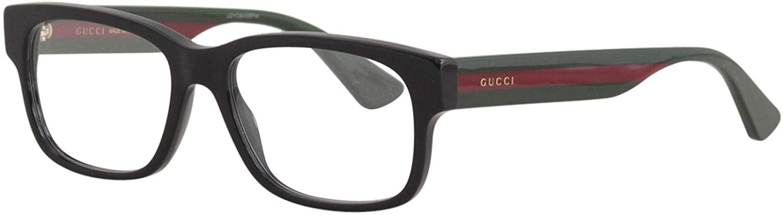 Gucci GG0343O Eyeglasses 007 Black/Multicolor 57 mm