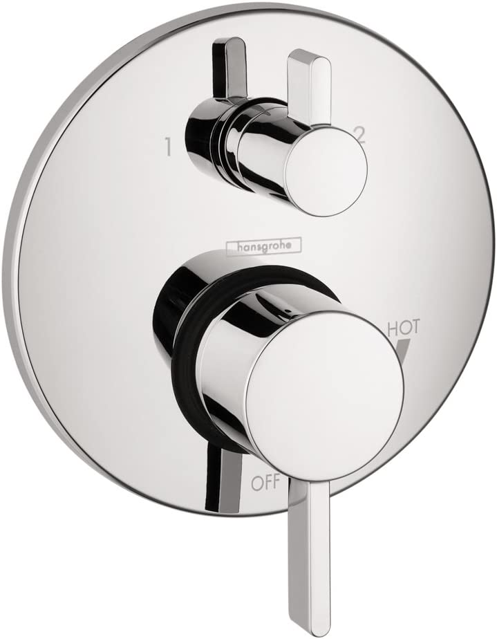 hansgrohe 4447000 S Pressure Balanced Valve Trim with Integrated Diverter, 5.51 x 7.75 x 10.75 inches, Chrome