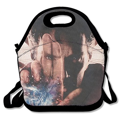 Black Doctor Strange Unisex Lunch Bags For Woman Man Kid
