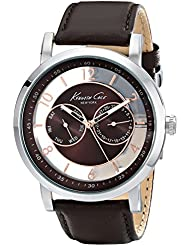 Kenneth Cole New York Mens KC8080 Dress Sport Analog Display Analog Quartz Brown Watch