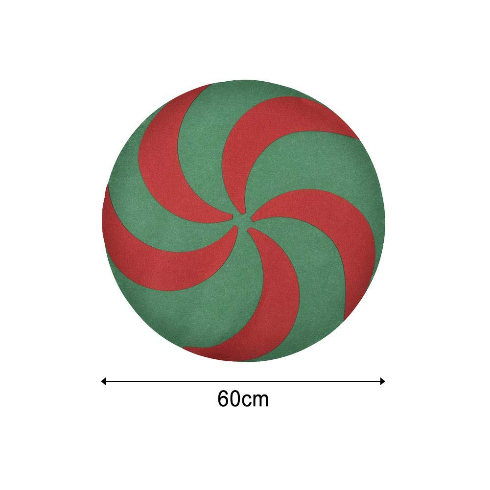 Red and Green Waterproof Christmas Tree Mat for Stands That Protects Your Hardwood and Carpeted Floors from Accidental Sundlight New Christmas Tree Stand Mat Accessory for Floor Protection