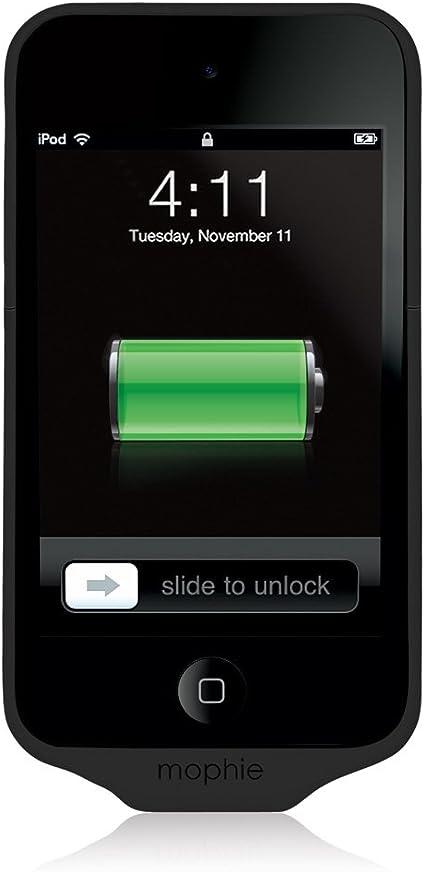 Mophie Juice Pack Air - Carcasa rígida con batería para iPod touch 4G (1000 mAh), color negro: Amazon.es: Electrónica
