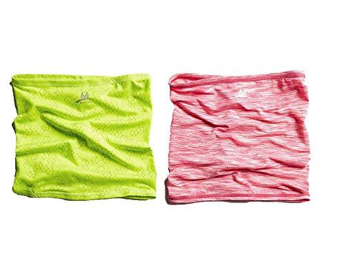 MISSION Enduracool Reflective Half Multi-Cool, Hi Vis Green & Hot Pink