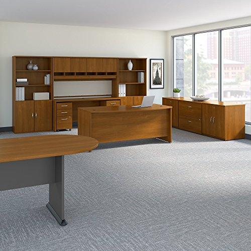 Bush Business Furniture SRC100WOSU Executive Office, Warm Oak - Oak Racetrack Conference Table