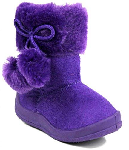 Kali Footwear Toddler & Little Girl's FlatPom PomFashion Ankle Boots 10