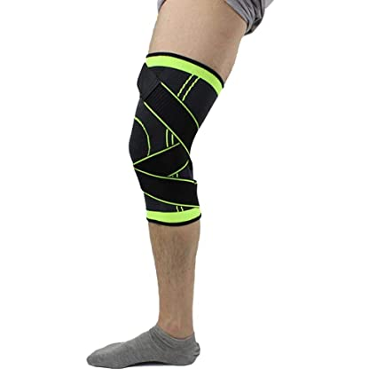 b4f52b03b098bb Feccile S-ports & Fit-ness Knitted Knee Brace Support Protector for Youth  Adults