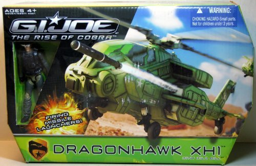 G.I. Joe Rise of Cobra Dragonhawk XH1 Helicopter with Wild Bill Action Figure Vehicle Set (Gi Joe Rise Of Cobra Night Raven)