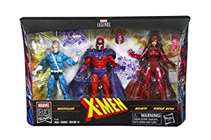 Marvel Legends Series Exclusive 6-Inch Family Matters 3-Pack with Magneto, Quicksilver, and Scarlet Witch Action Figures