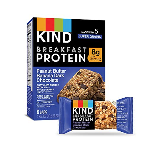 KIND Breakfast Protein Bars, Peanut Butter Banana, Gluten Free, Non GMO, 1.76 Ounce, 32 Count (Packaging may vary)