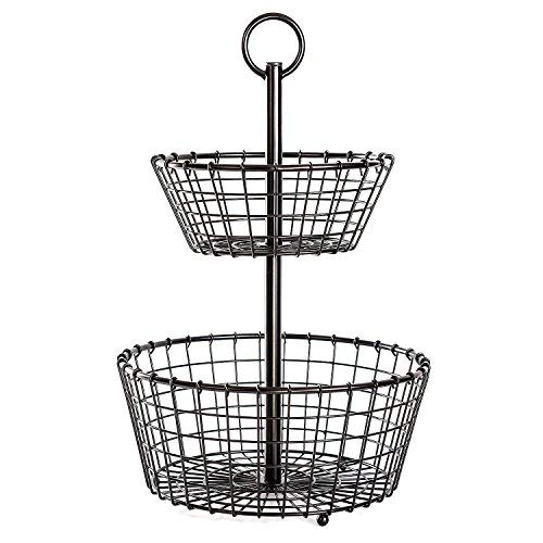 (2 Tier Wrought Iron Basket)