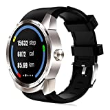 WTGJZN K98H 3G GPS WiFi Smart Watch Android 4.1 Support SIM Heart Rate Tracker 1.2GHz 4GB ROM Waterproof Bluetooth Smart Watch,Silver
