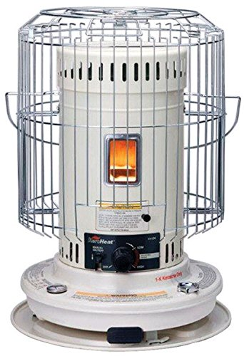 Heat Mate heater convection 22, 300 BTU heater has a tank capacity of 1.9 gallon, integral fuel tank; 3-Way safety shutoff and special safety guards to prevent