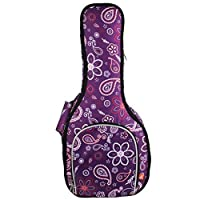 Hola! Heavy Duty A & F Style Mandolin Gig Bag (Soft Case) with 15mm Padding, Purple Flowers