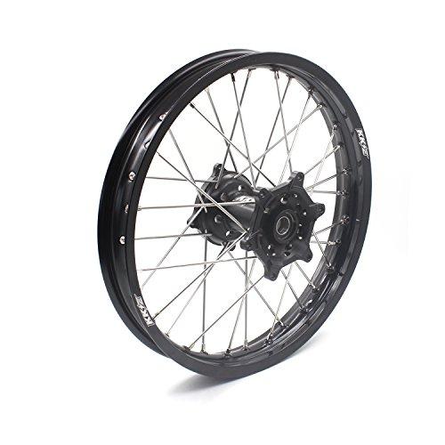 KKE HONDA MX CNC Wheel 21/19 CRF450R 02-12 CRF250R 04-13 Black Hub by KKE (Image #6)