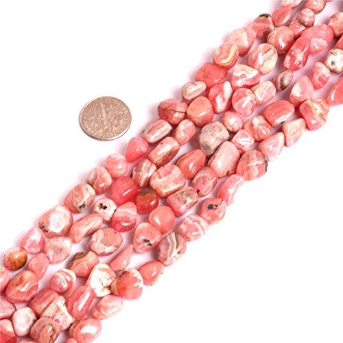 Argentine Rhodochrosite Beads for Jewelry Making Natural Gemstone Semi Precious 8x11-10x12mm Freeform Baroque Pink 15