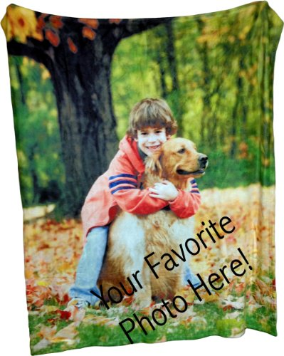 Coral Fleece Throw Photo Blanket - Put Your Photo on a Coral Plush and Soft Blanket - 50 Inch By 60inch