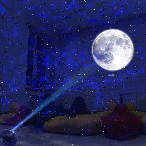 KisMee LED Space Planet Projector with Starry Cloud and 10 Planets in Solar System Build-in Bluetooth Hi-Fi Stereo Speaker for Parent-child interaction/Bedroom/Party.