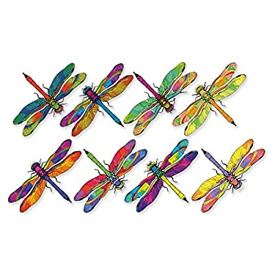 Anti-Collision Window Clings to Prevent Bird Strikes on Window Glass - Dragonfly Window Clings (Set of 8)