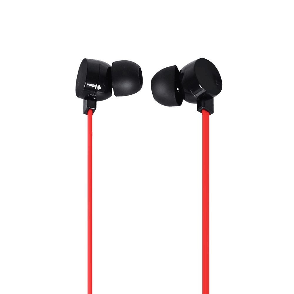 COWIN HE2 in-Ear Earbuds Noise Isolating Headphones, Waterproof Sweatproof Earbuds for Gym Running with Mic HD Dynamic Crystal Clear Sound, Ergonomic Comfort-Fit and 100 Compatibility – Red