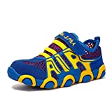 JINDENG Boys Girls Running Shoes Breathable Mesh Casual Sneakers Light Weight School Sport Walking Shoes Blue,31