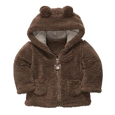 TRENDINAO Infant Toddler Baby Girl Winter Hoodies Jacket Coat Thick Outerwear
