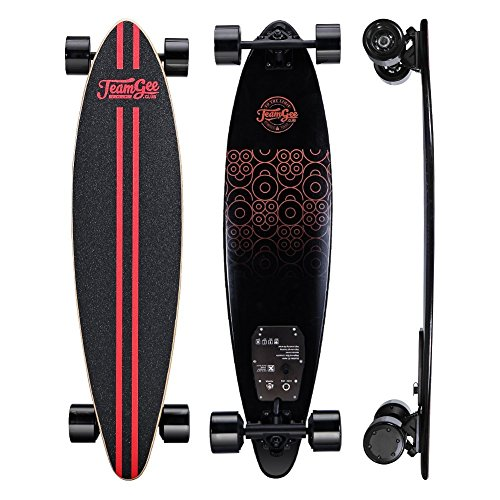 Teamgee Electric skateboard | Great Last Mile Vehicle Solution | 37 Inch Pintail Longboard |11 Ply...