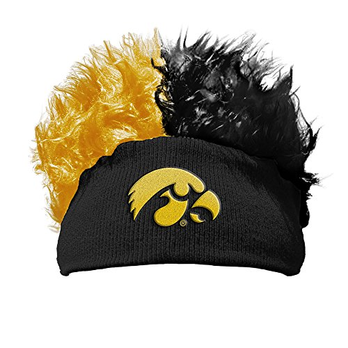 Iowa Hawkeyes Beanie One Size Fits All Flair Hair Beanie OFFICIAL NCAA by The Northwest Company