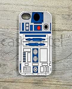 Case Cartel? R2D2 Star Wars Artist Illustration Phone Case for iPhone 4 / 4S - Retail Packaging (White)