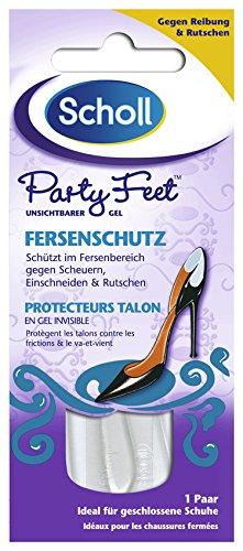 Scholl Party Feet Unsichtbarer Gel-Fersenschutz, 6er Pack (6 x 2 Stück)