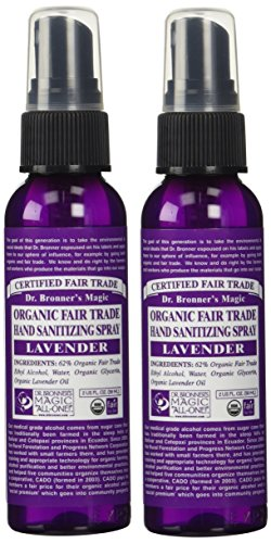 Lavender Hand Sanitizing Spray (pack of 2), Dr. Bronner's