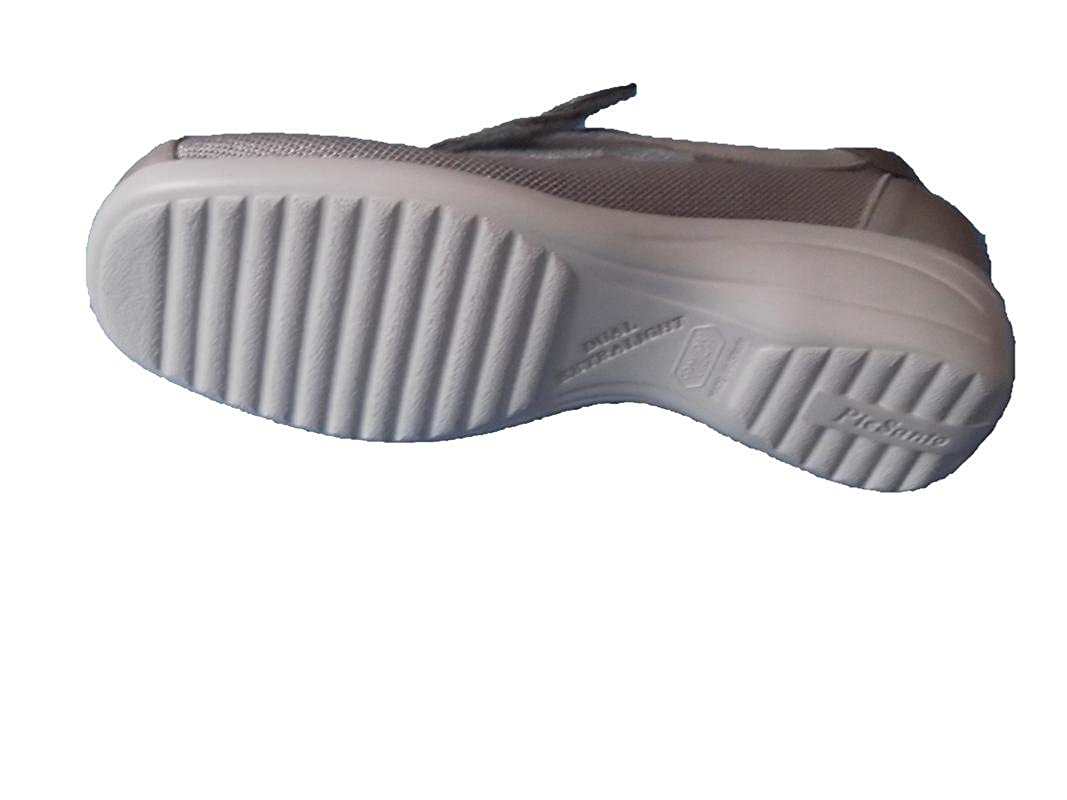 Damenschuh Frau Pie Santo Special Special Special Width (Herausnehmbare Innensohle) Material  Kombiniertes Leder mit Textilgitter Gummisohle Klettverscluss Farbe Nerz Made in Spain e82565