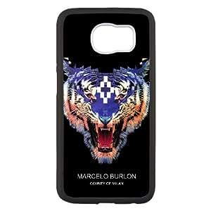 Marcelo Burlon caso V9A02I8VO funda Samsung Galaxy S6 funda 15DOX1 negro