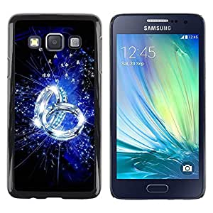 LECELL -- Funda protectora / Cubierta / Piel For Samsung Galaxy A3 SM-A300 -- Blue Ring --