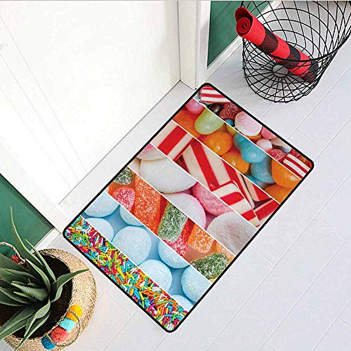Gloria Johnson Asian Commercial Grade Entrance mat Statue Asian Meditation Fountain Lantern Eastern Culture Serenity Themed for entrances garages patios W29.5 x L39.4 Inch Green Grey and Red
