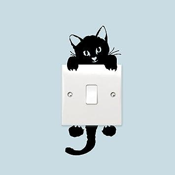 Kicode 5pcs Ein Aus Schalter Aufkleber Katzen Wandposter