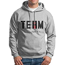 XiaoTing Men's I Found The In Team Leisure Travel Ash Fleece