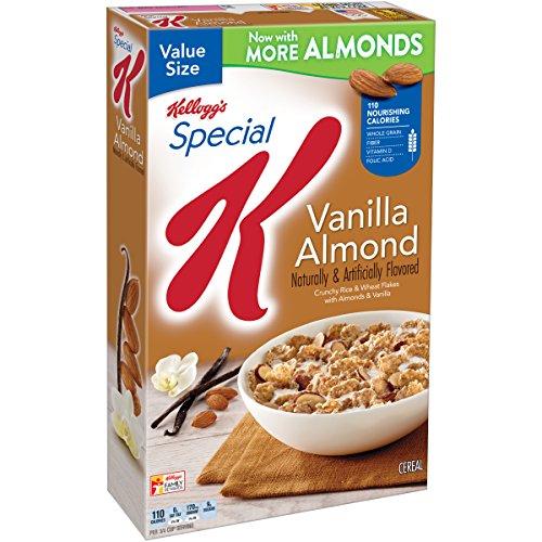 Kellogg's Special K Breakfast Cereal, Vanilla Almond, 18.80 Ounce Box (Vanilla Cereal)