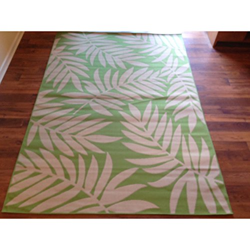 Art Carpet Beige Light Green Floral Pool Patio Deck Area ...