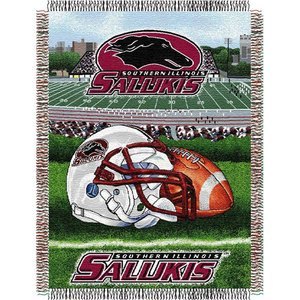 NCAA Southern Illinois Salukis Home Field Advantage Woven Tapestry Throw, 48