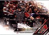 2016 Topps Update #US6 Chris Herrmann Arizona Diamondbacks Baseball Card in Protective Screwdown Display Case