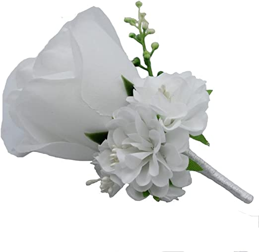 Groom Boutonniere Aritificial flower wedding man party suit decoration