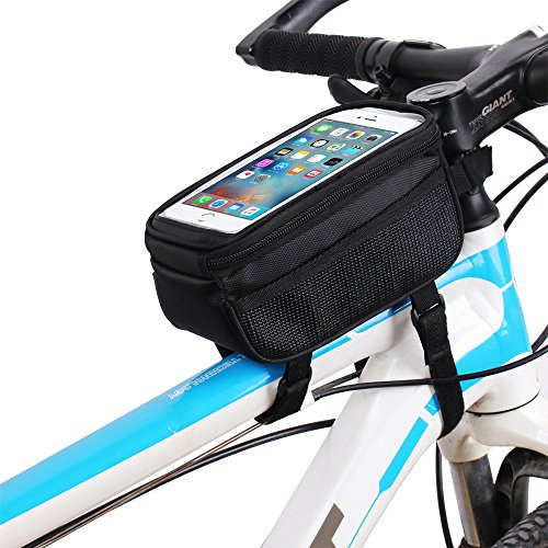 Waterproof Cycling Pack Bicycle Top Tube Frame Bag with 5.7