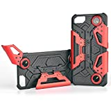 iPhone 8 Case, Crab Smart Phone Game cases for iPhone 6, iPhone 6s, and iPhone 7 with Foldable Joystick Kickstand and Phone Holder for Mobile Gaming - Red